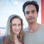 Das internationale Topmodel MARCUS SCHENKENBERG beim Interview mit Gesellschaftsredakteurin Kathi Fenz